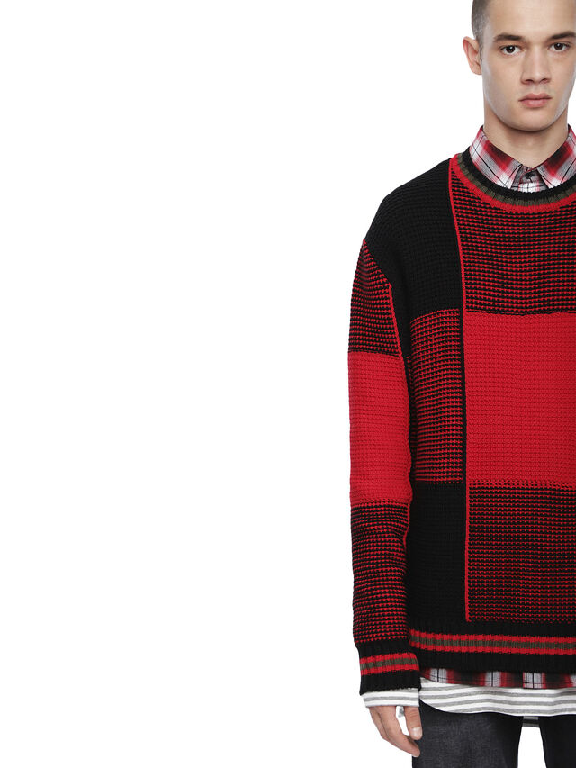 Diesel - KILTY, Red/Black - Sweaters - Image 3