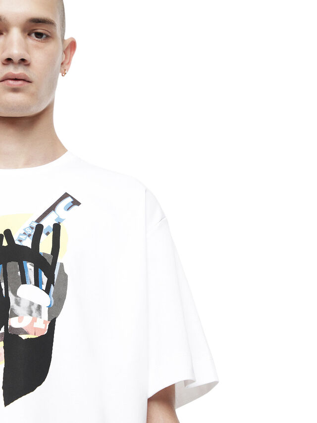 Diesel - TEORIAL-M10, White - T-Shirts - Image 3