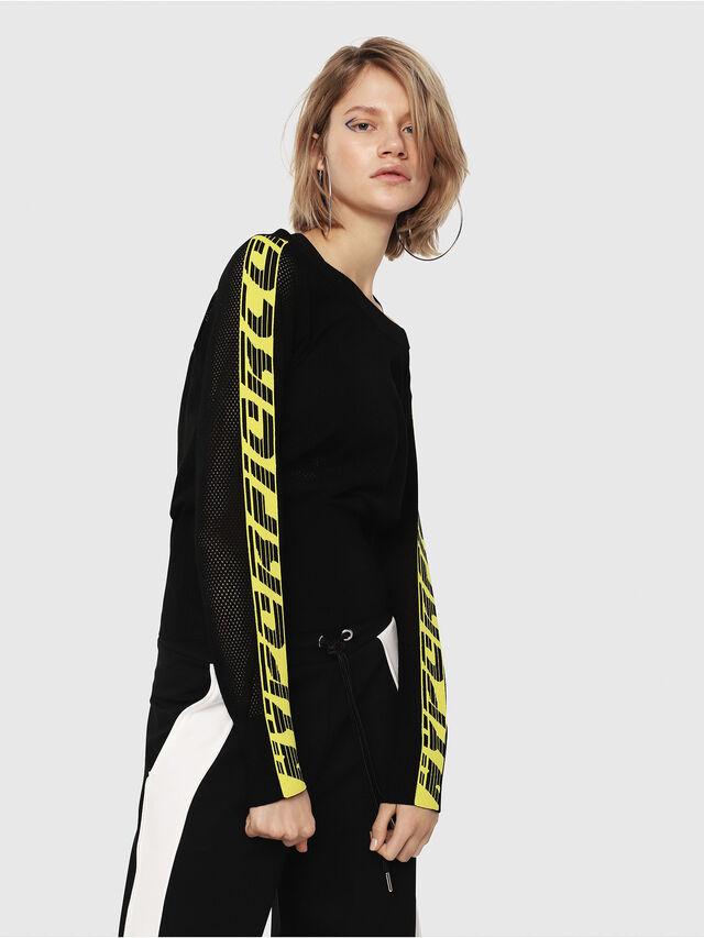 Diesel - M-NANCY, Black/Yellow - Sweaters - Image 3