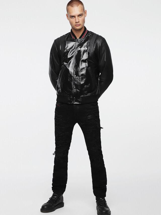Diesel - L-BILLY, Black Leather - Leather jackets - Image 4