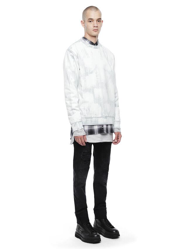 Diesel - SNEILBRU, White/Grey - Sweatshirts - Image 4