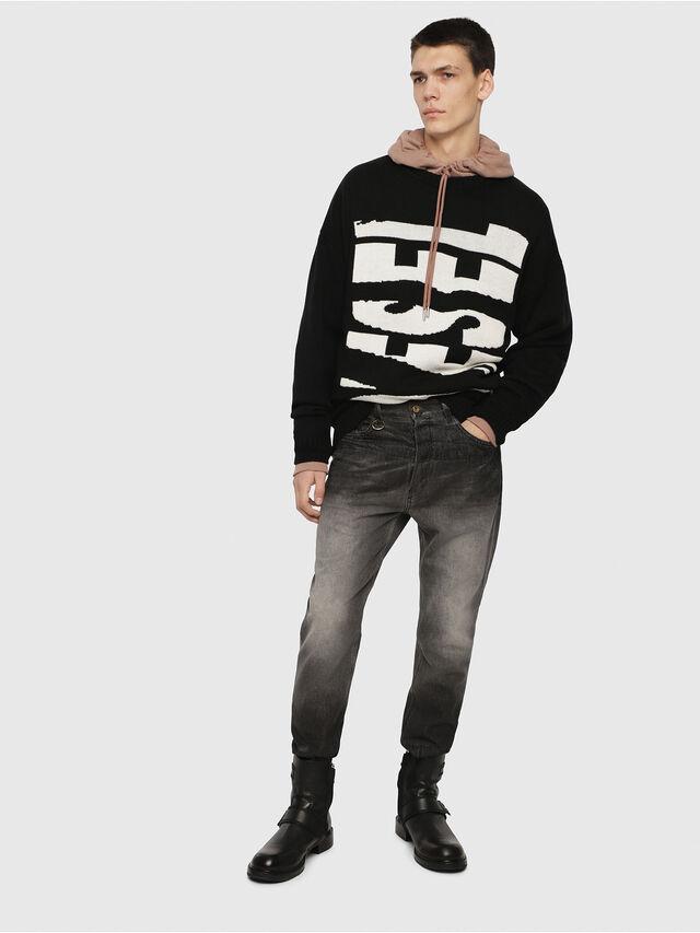 Diesel - D-Aygle 089AU, Black/Dark Grey - Jeans - Image 5