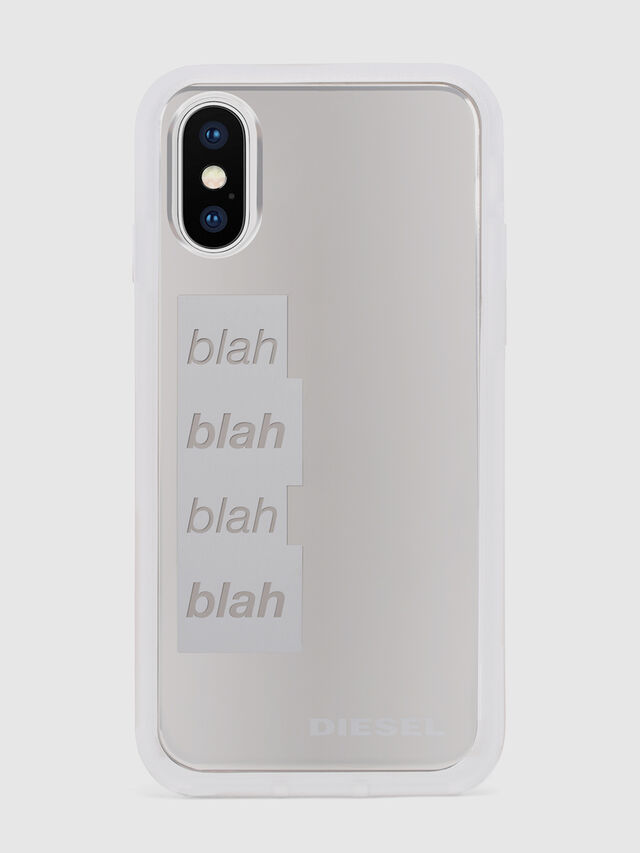 Diesel - BLAH BLAH BLAH IPHONE X CASE, White/Silver - Cases - Image 2