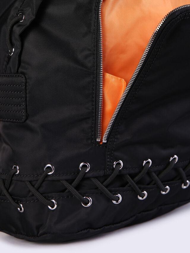 Diesel - F-SUPERPASS BACK, Black/Orange - Backpacks - Image 4