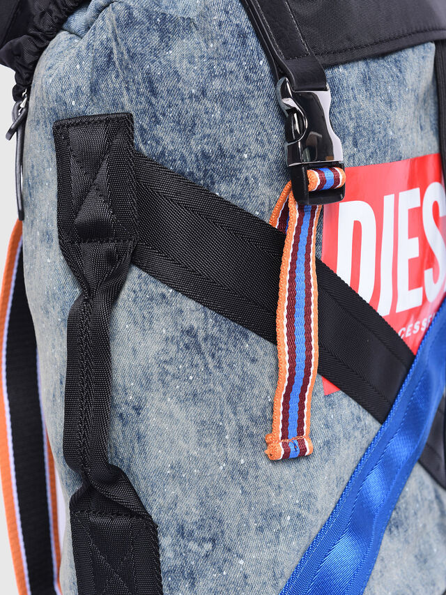 Diesel - M-XX BACK, Melange Blue - Backpacks - Image 3