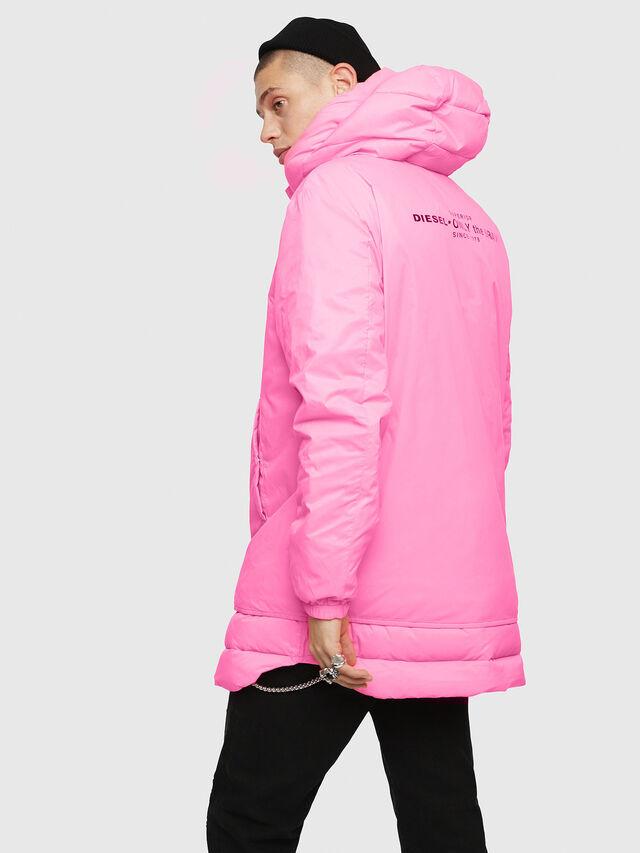 Diesel - W-SUN-REV-A, Pink Fluo - Winter Jackets - Image 2