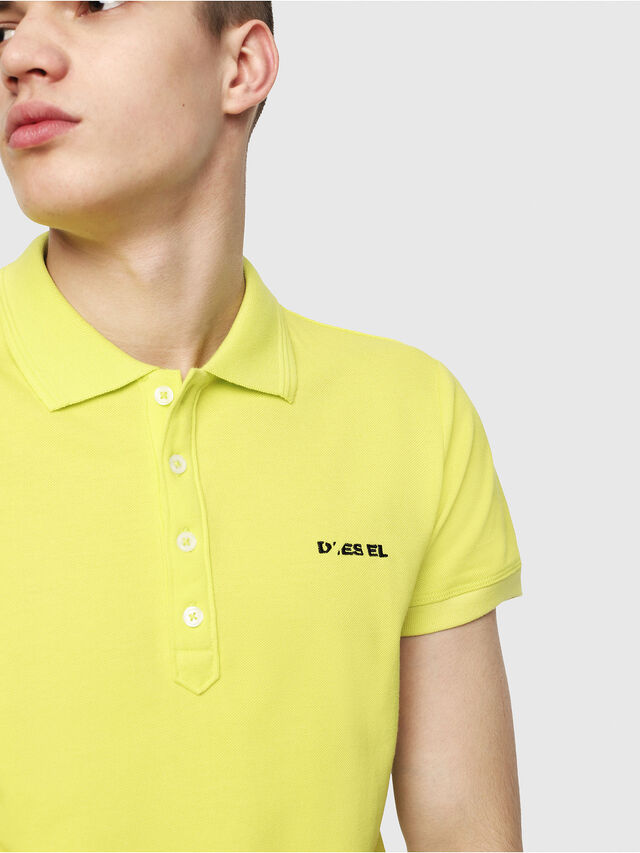 Diesel - T-HEAL-BROKEN-ST, Yellow Fluo - Polos - Image 3