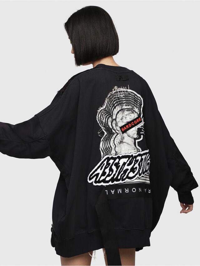 Diesel - F-TARAP-A, Black - Sweatshirts - Image 2