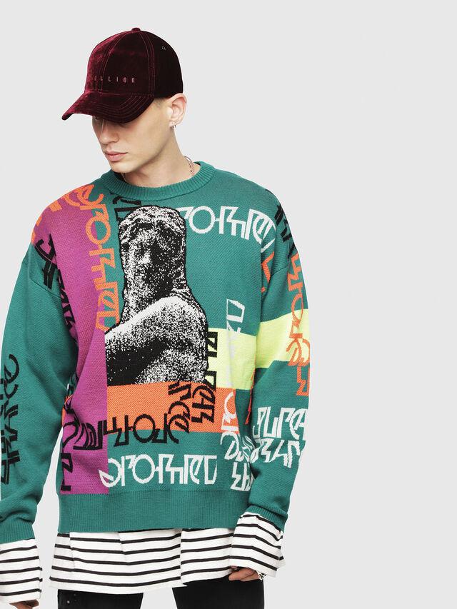 Diesel - K-NOX, Dark Green - Sweaters - Image 1