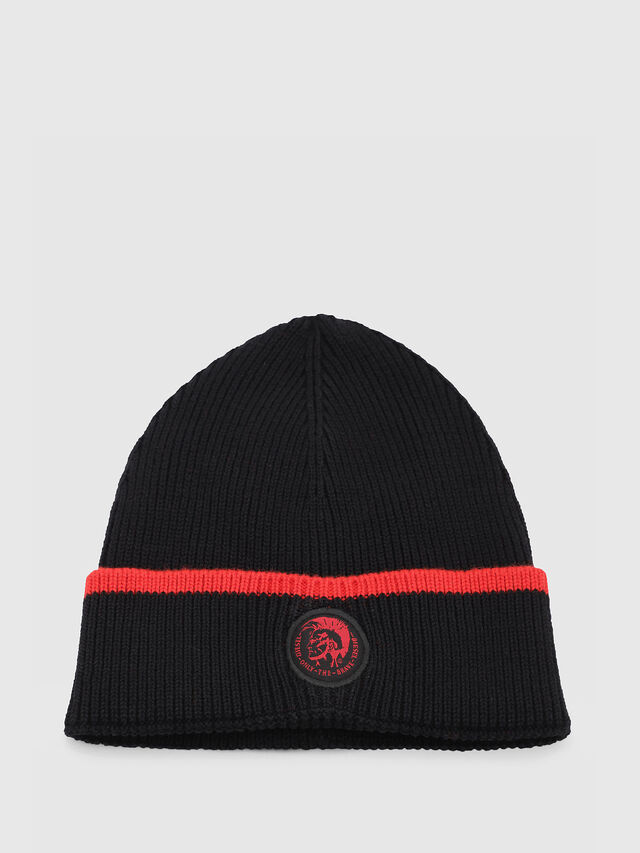 Diesel - DVL-BANY-CAPSULE, Black/Red - Caps, Hats and Gloves - Image 1