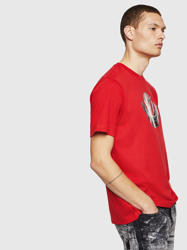 Diesel - T-JUST-B1, Fire Red - T-Shirts - Image 4