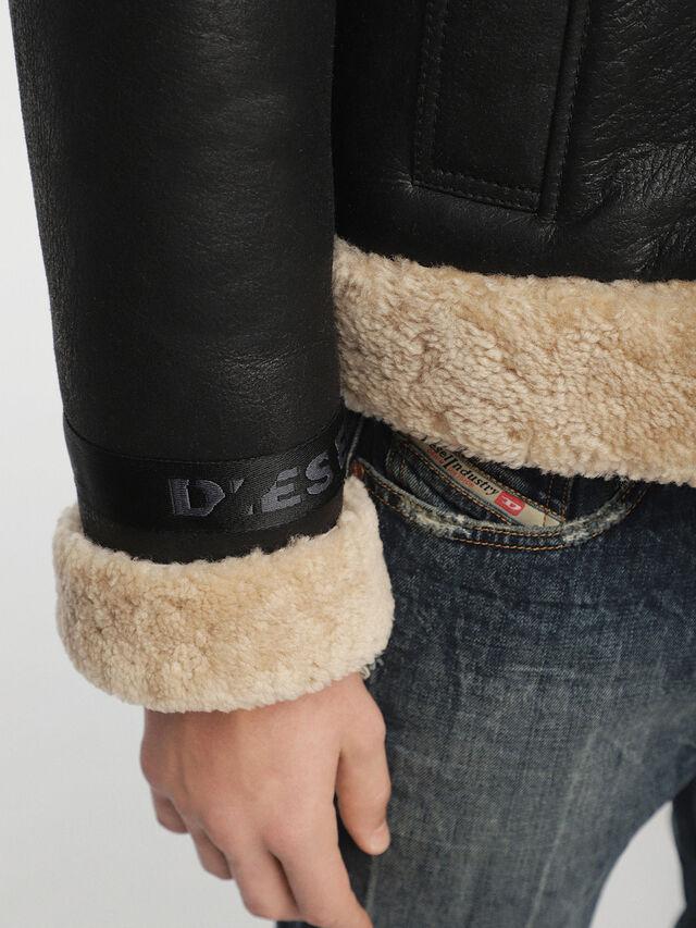 Diesel - L-FOLSON, Black/Brown - Leather jackets - Image 7