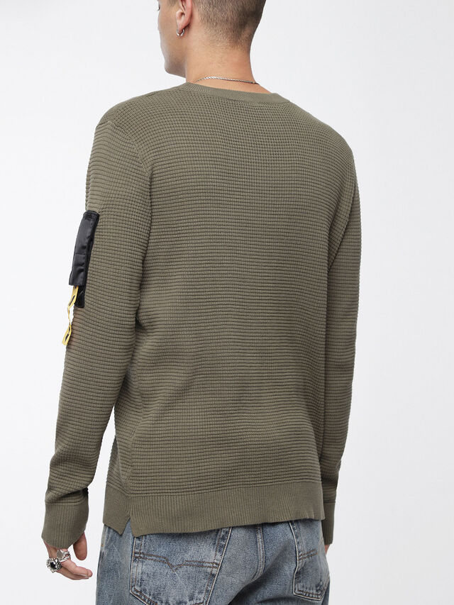 Diesel - K-WAFF, Olive Green - Sweaters - Image 2