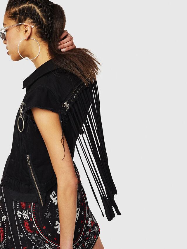Diesel - DE-BILLY, Black Jeans - Vests - Image 4