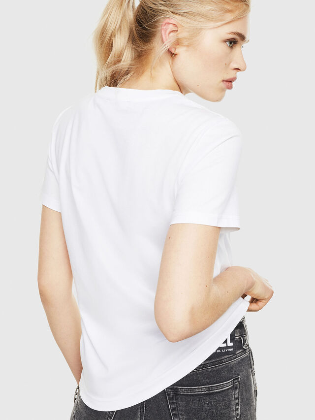 Diesel - T-SILY-WMA, White - T-Shirts - Image 2