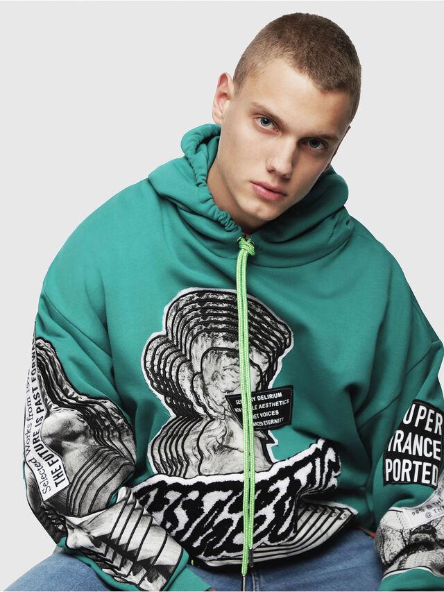 Diesel - S-JACK-YA, Water Green - Sweatshirts - Image 3