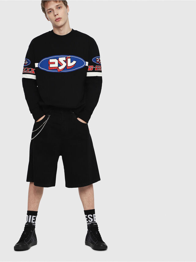 Diesel - S-BAY-YF, Multicolor/Black - Sweatshirts - Image 4