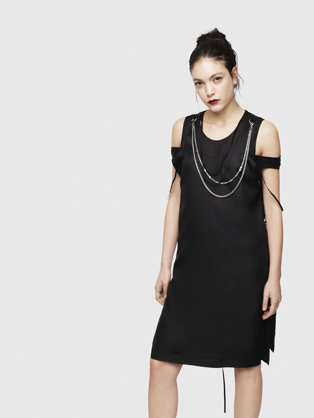 Diesel - D-MAHO, Black - Dresses - Image 1