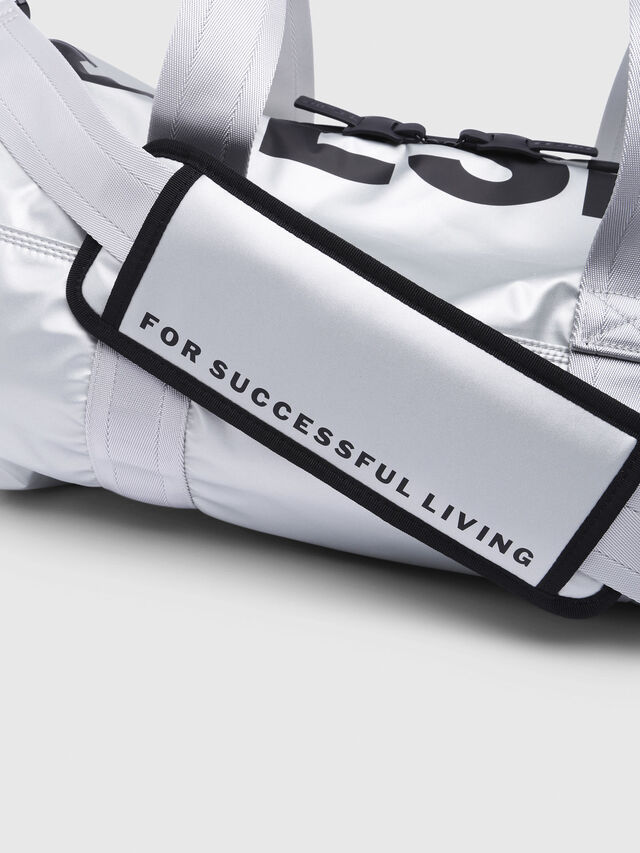 Diesel - F-BOLD DUFFLE, Silver - Travel Bags - Image 3