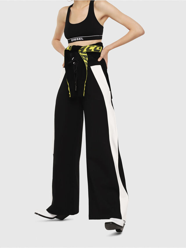 Diesel - P-ARIA, Black/White - Pants - Image 1