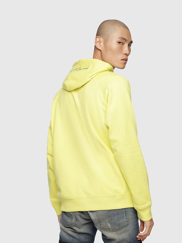 Diesel - S-GIM-HOOD-A, Light Yellow - Sweatshirts - Image 2