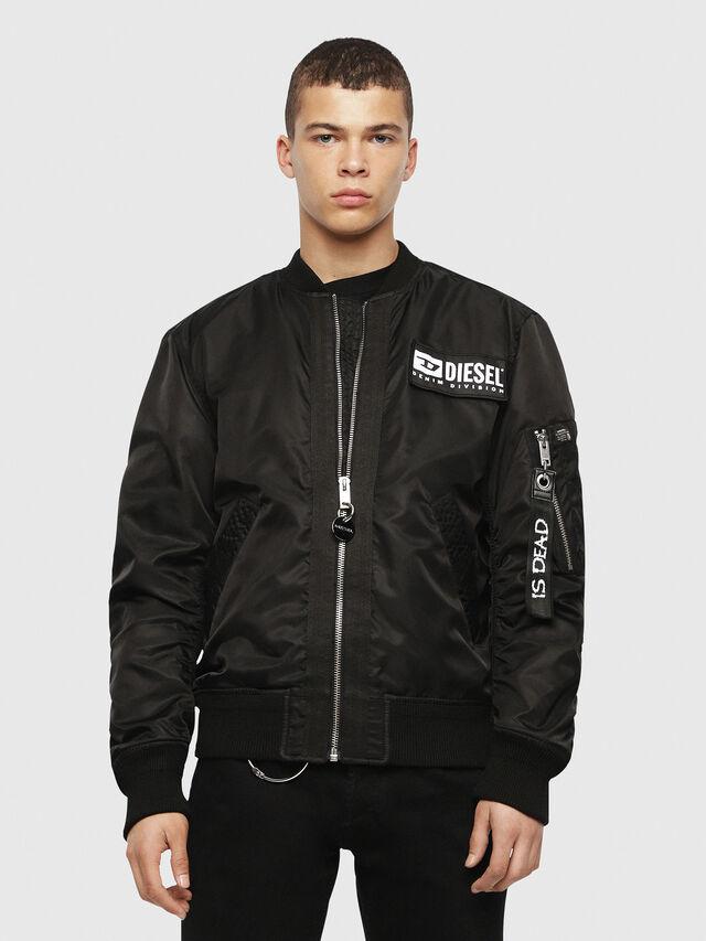 Diesel - HC-J-SOULY-A, Black - Jackets - Image 2