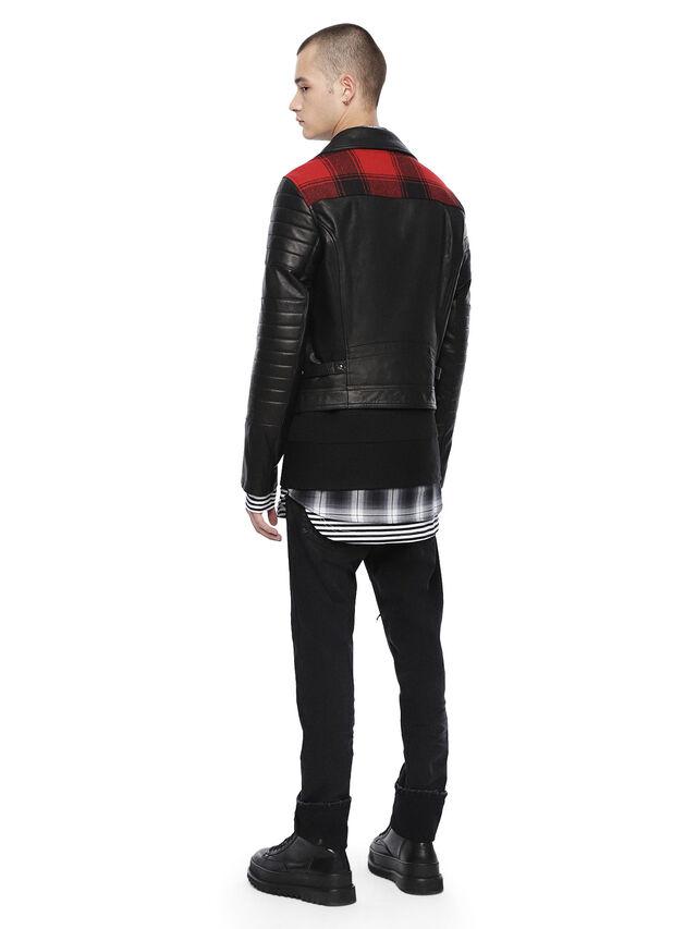 Diesel - LOCHECK, Black - Leather jackets - Image 4