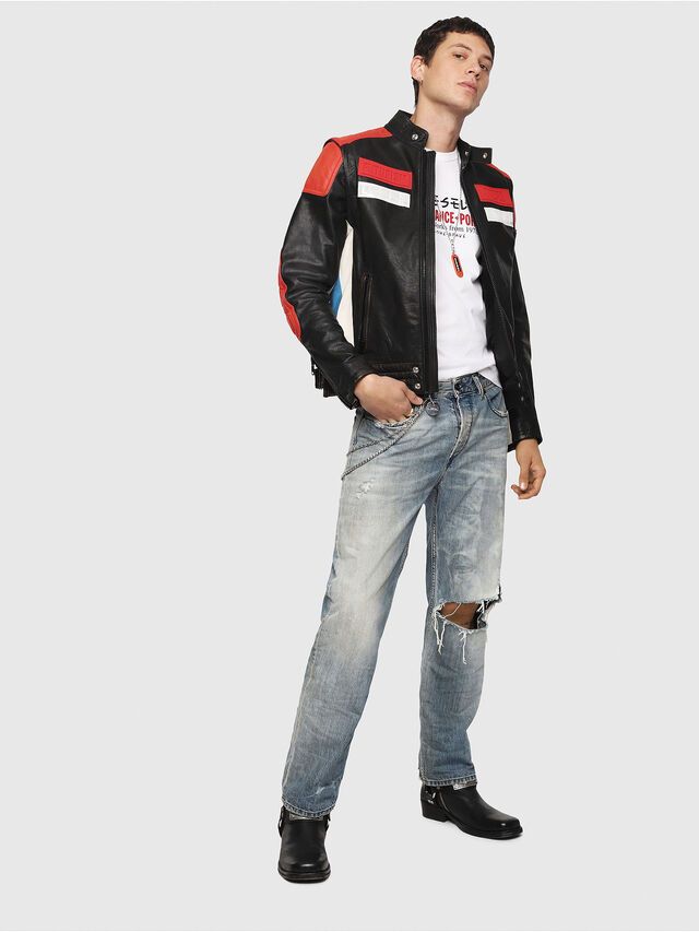 Diesel - L-YUJA, Black/Red - Leather jackets - Image 7