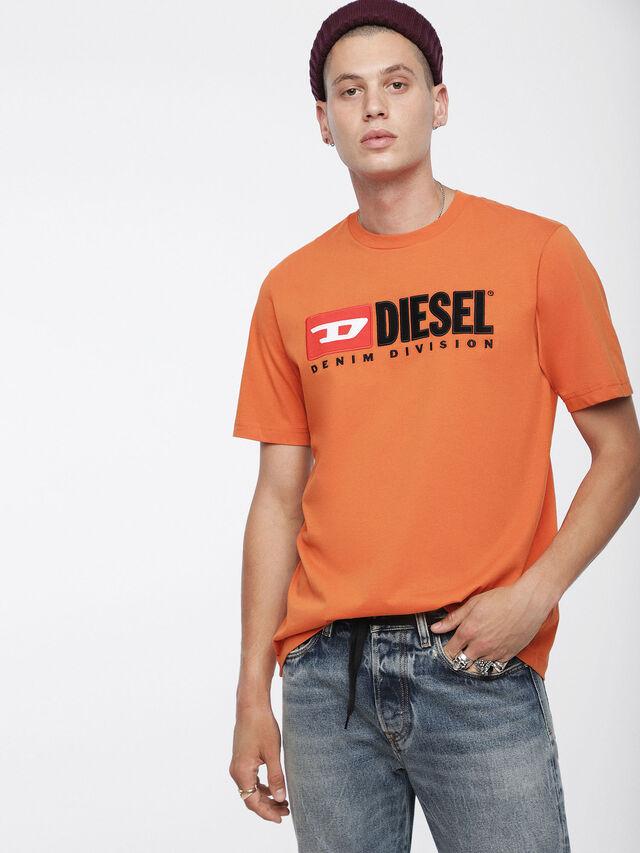 Diesel - T-JUST-DIVISION, Orange - T-Shirts - Image 1