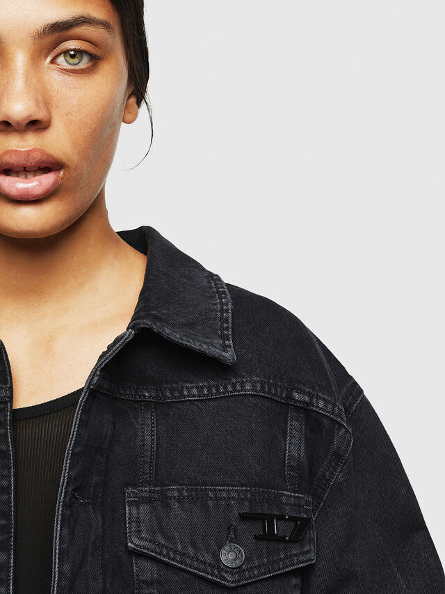 Diesel - DE-CATY, Black/Dark Grey - Denim Jackets - Image 3