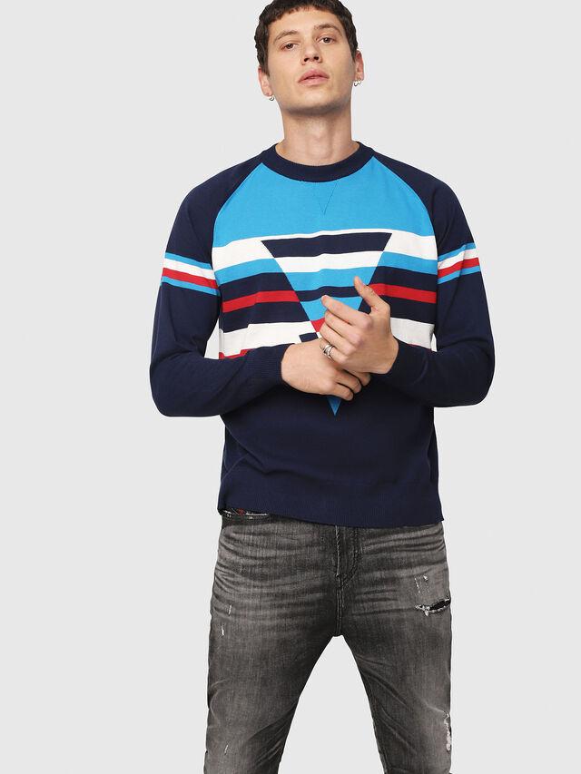Diesel - K-SHUFF, Blue - Sweaters - Image 1
