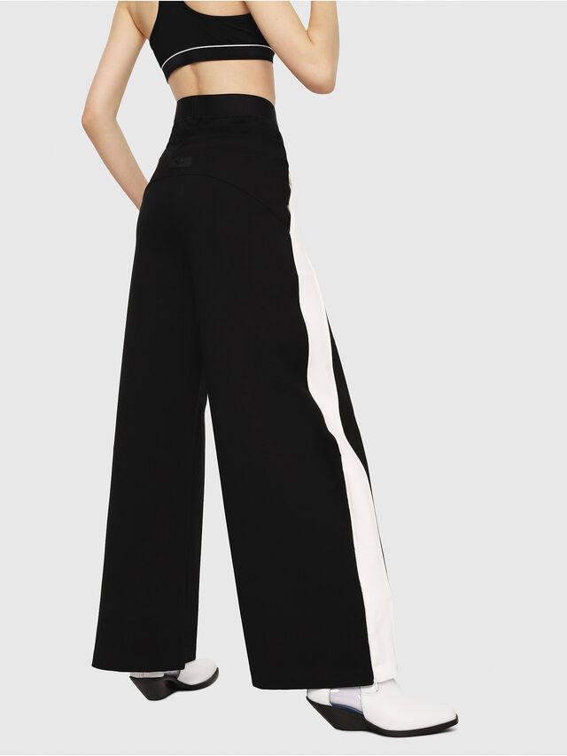 Diesel - P-ARIA, Black/White - Pants - Image 2