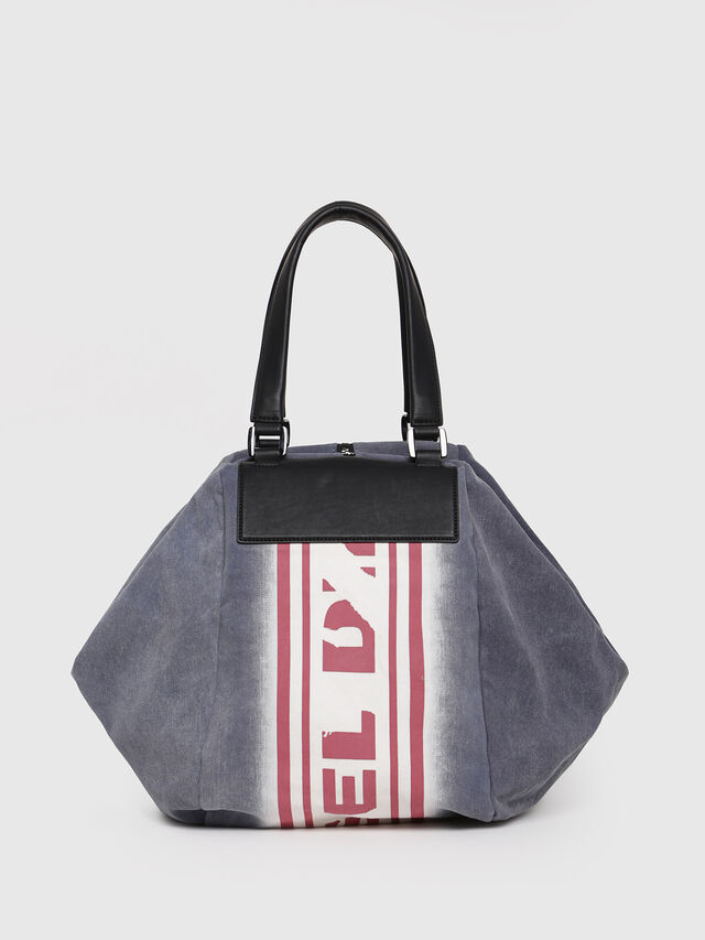 Diesel - D-SCRATCH SHOPPER, Blue - Shopping and Shoulder Bags - Image 2
