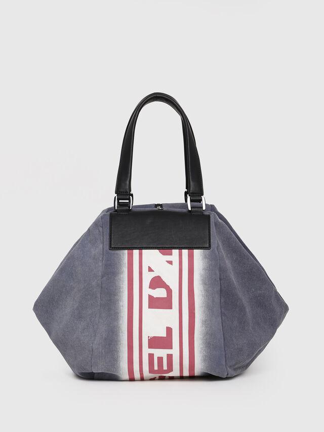 Diesel - D-SCRATCH SHOPPER, Blue - Shopping and Shoulder Bags - Image 2