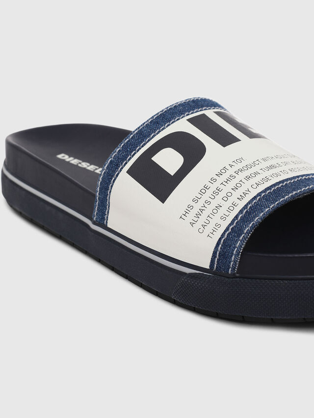 Diesel - SA-GRAND SLIDE, Blue/White - Slippers - Image 4