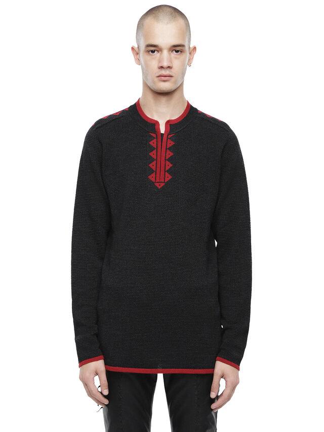 Diesel - KIVINT, Black/Red - Sweaters - Image 1