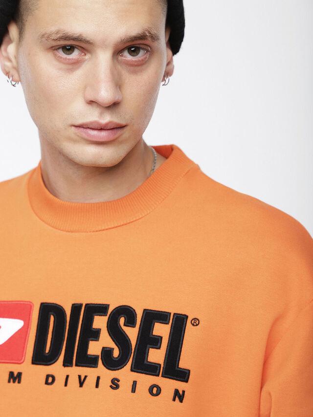 Diesel - S-CREW-DIVISION, Orange - Sweatshirts - Image 3