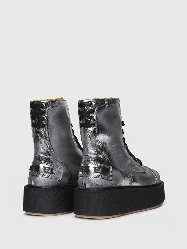 Diesel - D-CAGE HB, Silver - Ankle Boots - Image 3
