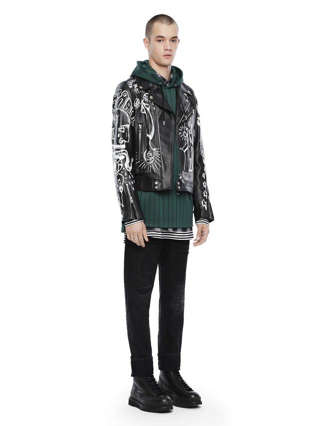 Diesel - LORAGRAPH, Black - Leather jackets - Image 4