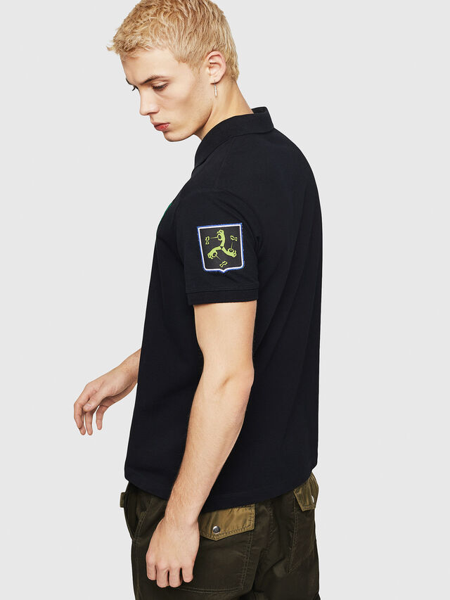 Diesel - T-POLO-PATCHES, Black - Polos - Image 2