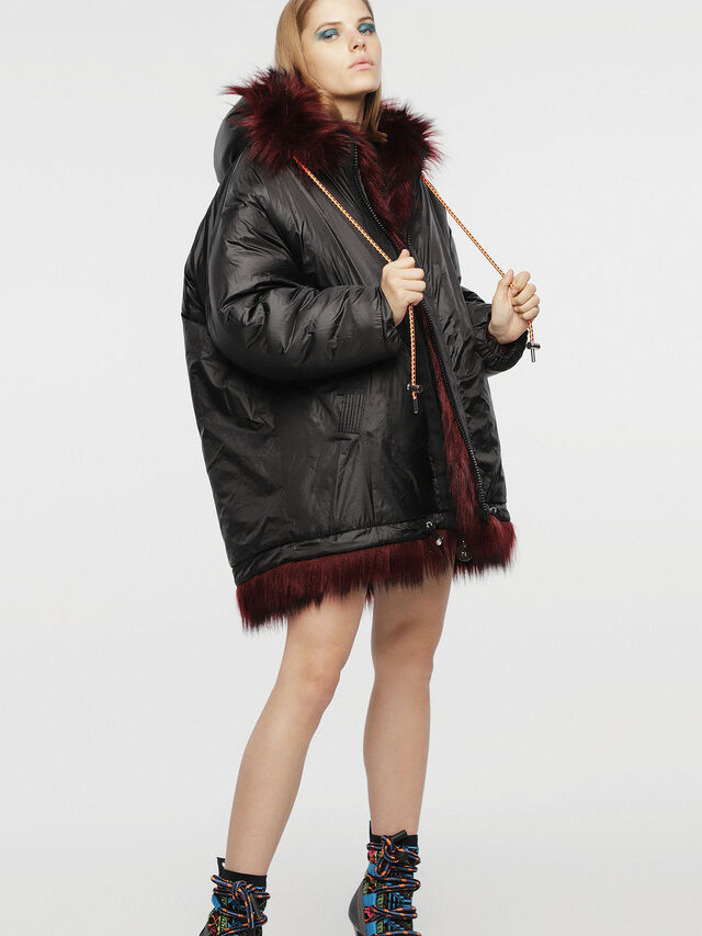 Diesel - L-WISKE, Red/Black - Winter Jackets - Image 3