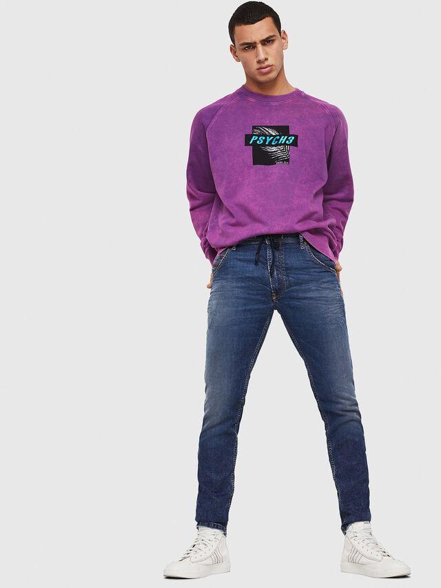 Diesel - Krooley JoggJeans 069FG, Medium Blue - Jeans - Image 5