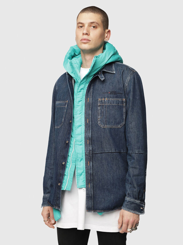 Diesel - D-FRED, Blue Jeans - Denim Shirts - Image 1