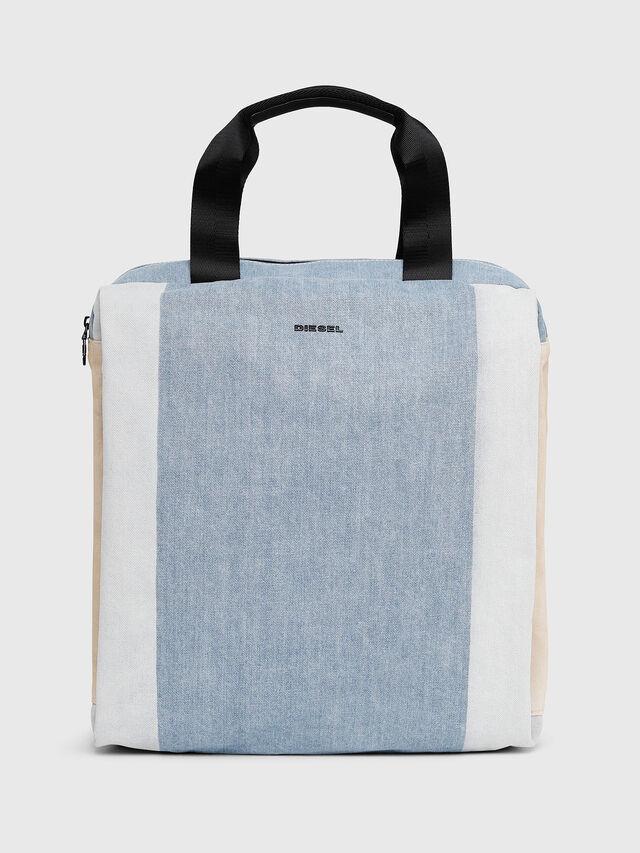 Diesel - D-SUBTORYAL DENIM BA, Blue/White - Backpacks - Image 1