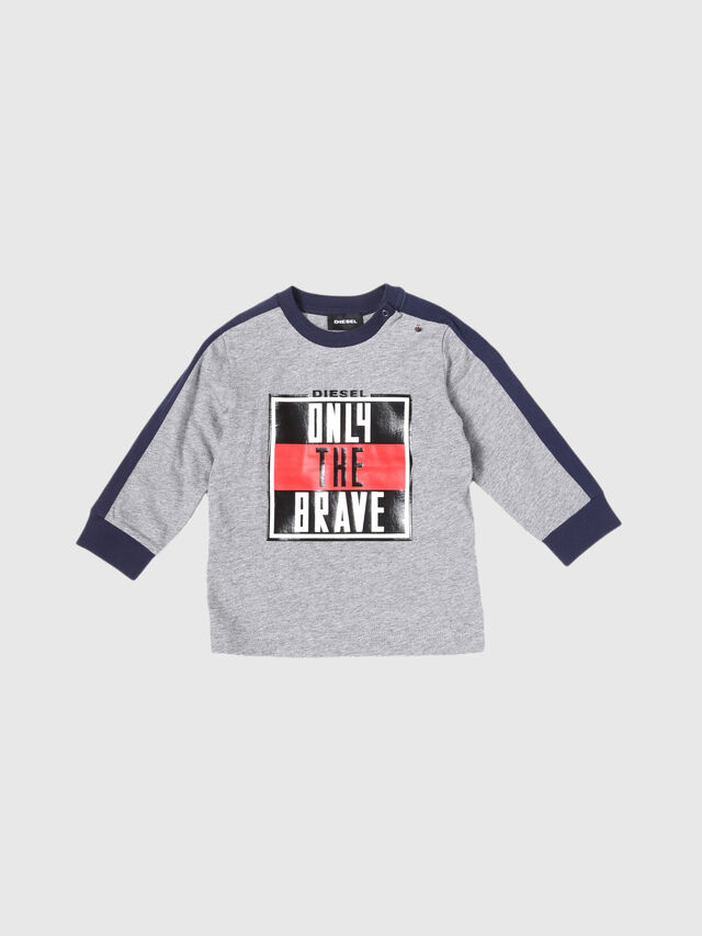 Diesel - TESMIB, Grey - T-shirts and Tops - Image 1