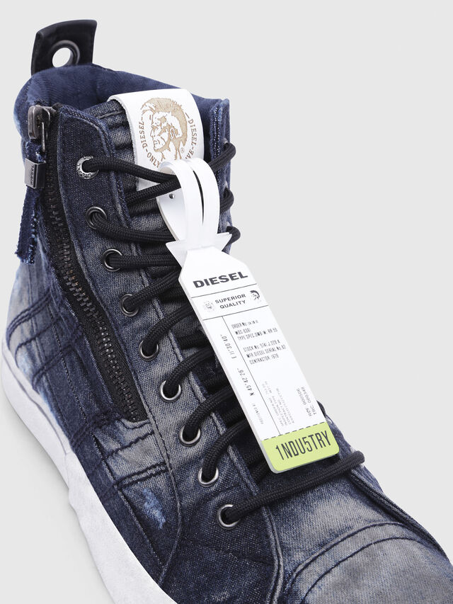 Diesel - D-VELOWS MID LACE, Night Blue - Sneakers - Image 4