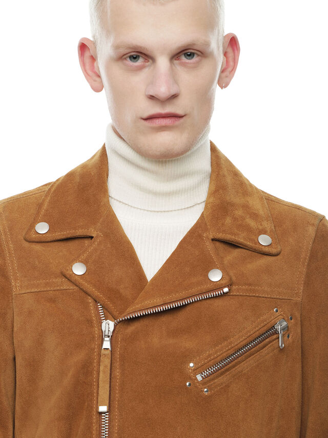 Diesel - LASKAI, Brown/Beige - Leather jackets - Image 4