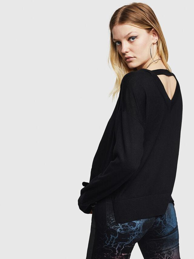 Diesel - M-PERLA, Black - Sweaters - Image 2