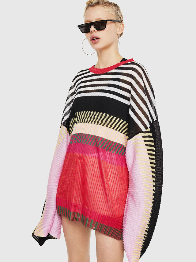 Diesel - M-PLEAT-A, Multicolor - Sweaters - Image 5