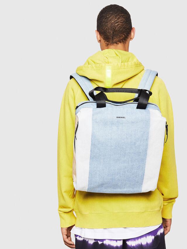 Diesel - D-SUBTORYAL DENIM BA, Blue/White - Backpacks - Image 5